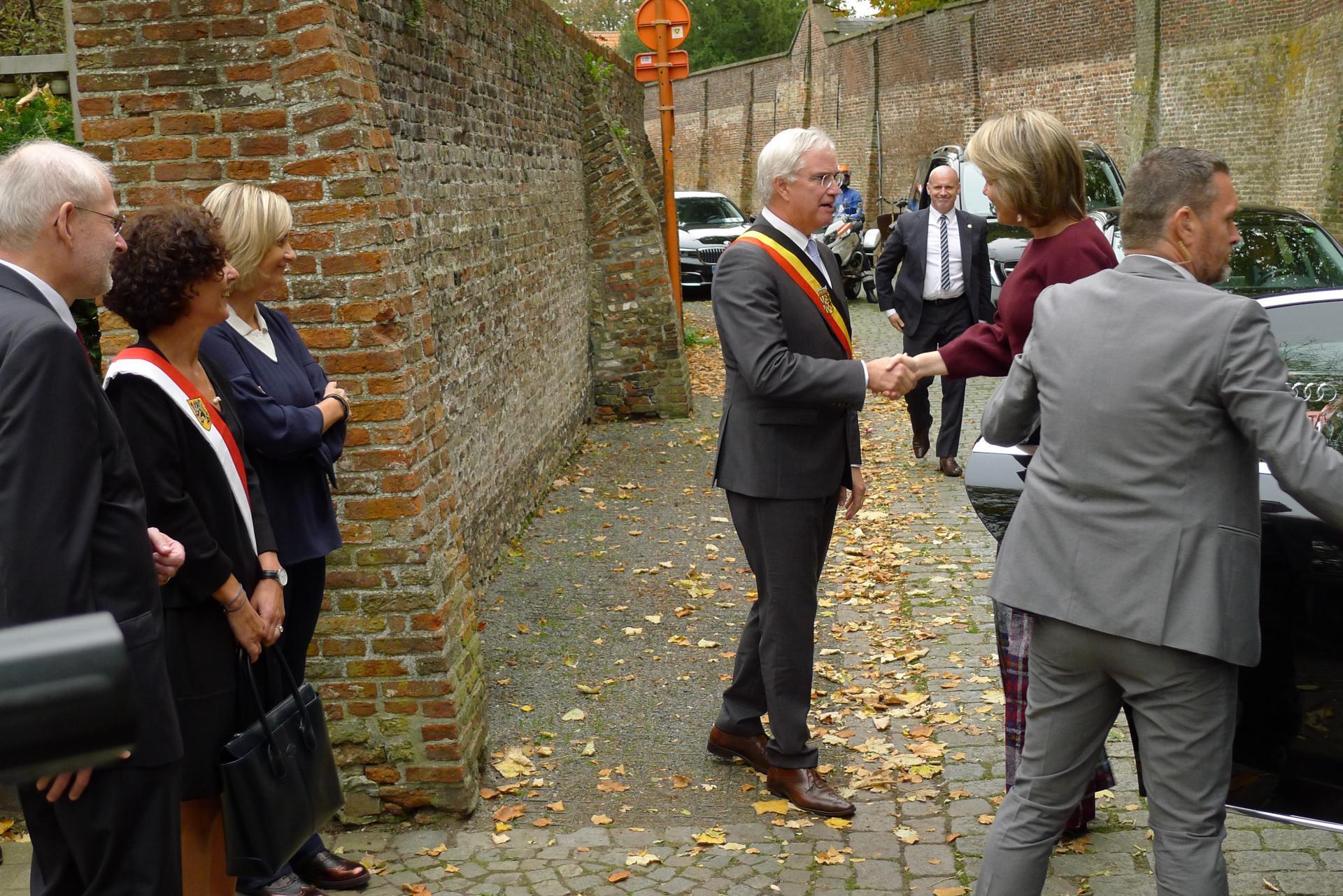 Bezoek Koningin Mathilde aan Spermalie