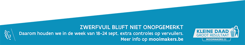 aankondiging handhaving zwerfvuil week 18-24 september
