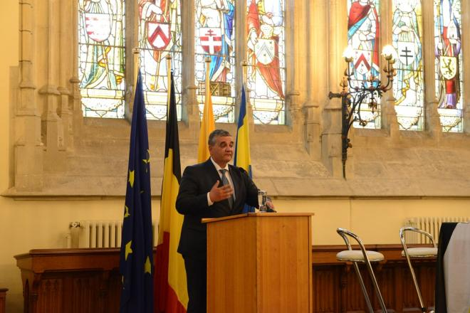 Minister van Defensie Steven Vandeput houdt slottoespraak