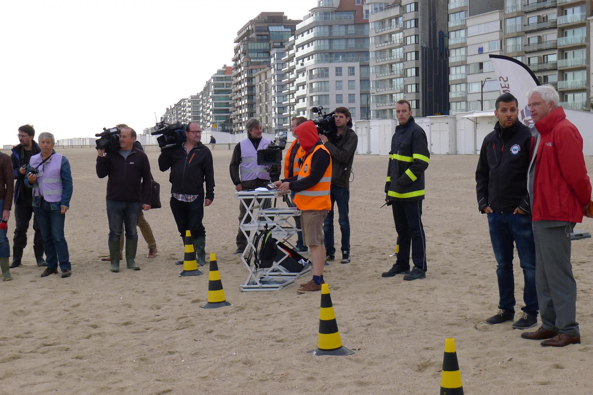 reddingsoefening met drones