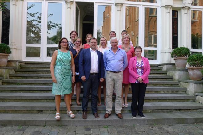 Bezoek Staatssecretaris P. De Backer