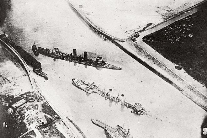 Blockships at Zeebrugge