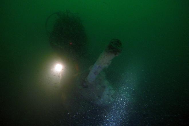 U boat periscope underwater
