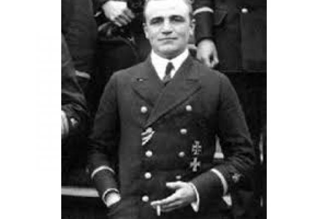 Captain LT Pustkuche of UB-29 who torpedoed HMS Sussex